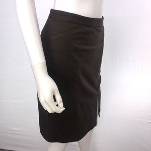 Club Monaco Size 0 Brown Straight Pencil Skirt